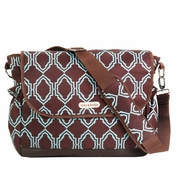 SOLD OUT Timi And Leslie Canvas Messenger Diaper Bag - Sahara