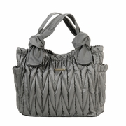 TEMPORARILY OUT OF STOCK Timi And Leslie Marie Antoinette Tote Diaper Bag - Silver