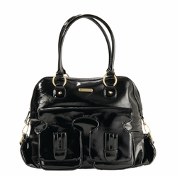 SOLD OUT Timi And Leslie Marilyn Satchel Diaper Bag - Black Patent
