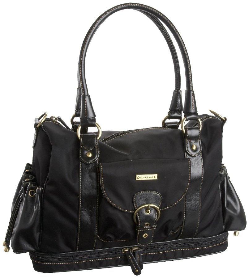 diaper bag leather designer  bag is damaged by