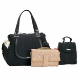 Storksak Anna Quilted Diaper Bag And Tote Set - Black