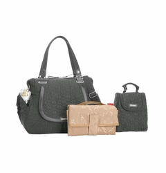 Storksak Anna Quilted Diaper Bag And Tote Set - Grey
