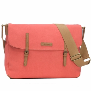 Storksak Ashley Canvas Messenger Diaper Bag - Coral