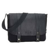 SOLD OUT Storksak Aubrey Leather Messenger Laptop Diaper Bag - Black