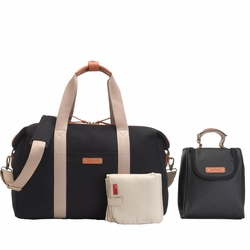 TEMPORARILY OUT OF STOCK Storksak Bailey Weekender Diaper Bag Set - Black