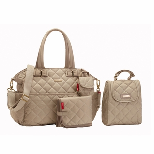Storksak Bobby Quilted Diaper Bag And Tote Set - Cappuccino