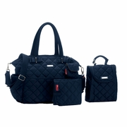 Storksak Bobby Quilted Diaper Bag And Tote Set - Navy