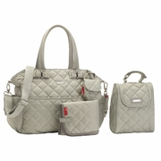 Storksak Bobby Quilted Diaper Bag And Tote Set - Putty