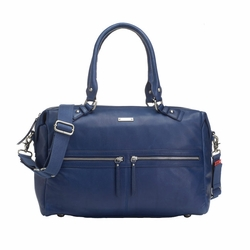 Storksak Caroline Luxury Leather Diaper Bag - Navy