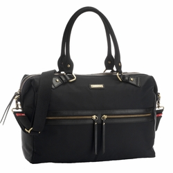 Storksak Caroline Nylon Fabric Diaper Bag - Black