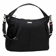 TEMPORARILY OUT OF STOCK Storksak Catherine Luxe Nylon Diaper Bag - Black