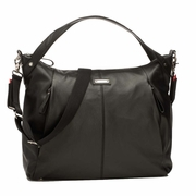 TEMPORARILY OUT OF STOCK Storksak Catherine Luxury Leather Diaper Bag - Black