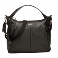 Storksak Catherine Luxury Leather Diaper Bag - Black