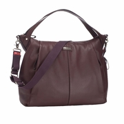 Storksak Catherine Luxury Leather Diaper Bag - Bordeaux