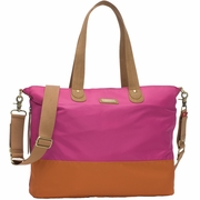 Storksak Color Block Tote Diaper Bag - Fuchsia And Orange
