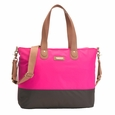 Storksak Color Block Tote Diaper Bag - Neon Pink And Brown