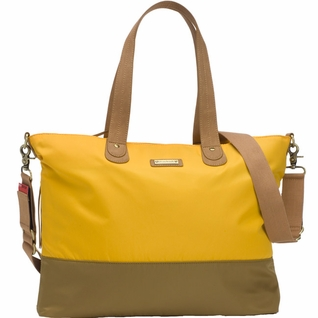 SOLD OUT Storksak Color Block Tote Diaper Bag - Yellow/Tan