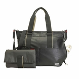 Storksak Eden Vegan Leather Diaper Bag - Black
