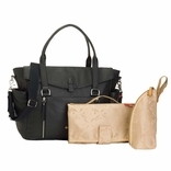 Storksak Emma Luxury Leather Diaper Bag - Black