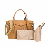 Storksak Emma Luxury Leather Diaper Bag - Tan