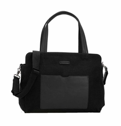 Storksak Juliette Coated Canvas Tote Diaper Bag - Black