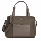 TEMPORARILY OUT OF STOCK Storksak Juliette Coated Canvas Tote Diaper Bag - Moss