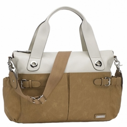 SOLD OUT Storksak Kate Colorblock Diaper Bag - Stone And Tan