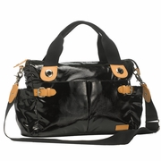TEMPORARILY OUT OF STOCK Storksak Kate Diaper Bag - Black Patent Leather