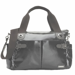 SOLD OUT Storksak Kate Diaper Bag - Charcoal Patent Leather