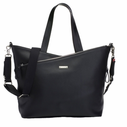 Storksak Lucinda Tote Diaper Bag - Smooth Black Leather
