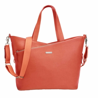 SOLD OUT  Storksak Lucinda Tote Diaper Bag - Sunset Orange Textured Leather