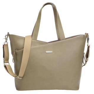 TEMPORARILY OUT OF STOCK Storksak Lucinda Tote Diaper Bag - Taupe Textured Leather