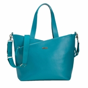 Storksak Lucinda Tote Diaper Bag - Teal Textured Leather