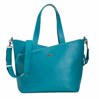 SOLD OUT Storksak Lucinda Tote Diaper Bag - Teal Textured Leather