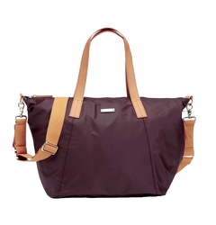 Storksak Noa Coated Canvas Diaper Bag Set - Burgundy