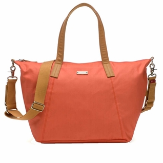 TEMPORARILY OUT OF STOCK Storksak Noa Coated Canvas Diaper Bag Set - Coral