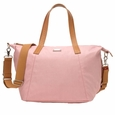 Storksak Noa Coated Canvas Diaper Bag Set - Pink