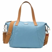 Storksak Noa Coated Canvas Diaper Bag Set - Powder Blue