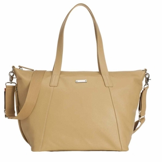 Storksak Noa Leather Diaper Bag Set - Light Tan