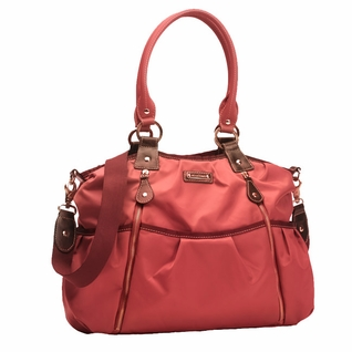 Storksak Olivia Nylon Diaper Bag - Berry
