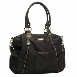 TEMPORARILY OUT OF STOCK Storksak Olivia Nylon Diaper Bag - Black