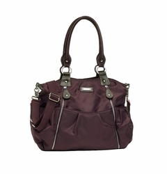 TEMPORARILY OUT OF STOCK  Storksak Olivia Nylon Diaper Bag - Mulberry