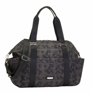 TEMPORARILY OUT OF STOCK Storksak Sandy Nylon Diaper Bag Set - Grey Print