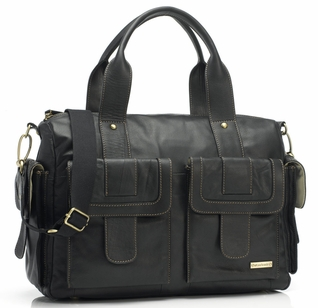 SOLD OUT Storksak Sofia Leather Diaper Bag - Black