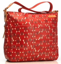 Storksak Suzi Red Label Diaper Bag - Retro Dot Red