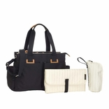 TEMPORARILY OUT OF STOCK Storksak Travel Collection Shoulder Diaper Bag Carryall - Black