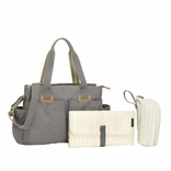 Storksak Travel Collection Shoulder Diaper Bag Carryall - Grey