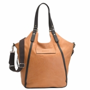 TEMPORARILY OUT OF STOCK Storksak UK Edition Ellena Diaper Bag - Twisted Tan Leather