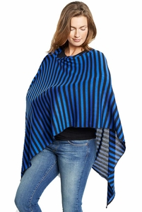 Maternal America Striped Nursing Cover And Scarf