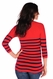 SOLD OUT Tees By Tina 3/4 Sleeve Nautical Stripe Top
